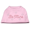 Mirage Pet Products Be Mine Rhinestone Shirts Light Pink XXXL(20)