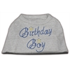 Mirage Pet Products Birthday Boy Rhinestone Shirts Grey XXXL(20)