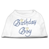 Mirage Pet Products Birthday Boy Rhinestone Shirts White XXXL(20)