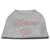 Mirage Pet Products Birthday Girl Rhinestone Shirt Grey XXXL(20)