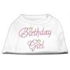 Mirage Pet Products Birthday Girl Rhinestone Shirt White XXL (18)