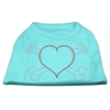 Mirage Pet Products Heart and Crossbones Rhinestone Shirts Aqua M (12)
