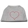 Mirage Pet Products Heart and Crossbones Rhinestone Shirts Grey XXXL(20)