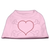 Mirage Pet Products Heart and Crossbones Rhinestone Shirts Light Pink XXXL(20)