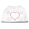 Mirage Pet Products Heart and Crossbones Rhinestone Shirts White XXXL(20)