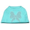 Mirage Pet Products Rhinestone Bow Shirts Aqua XXL (18)