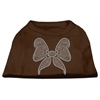 Mirage Pet Products Rhinestone Bow Shirts Brown XS (8)