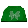 Mirage Pet Products Rhinestone Bow Shirts Emerald Green Med (12)