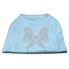 Mirage Pet Products Rhinestone Bow Shirts Baby Blue XXXL(20)