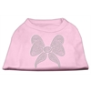 Mirage Pet Products Rhinestone Bow Shirts Light Pink XXXL(20)