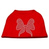 Mirage Pet Products Rhinestone Bow Shirts Red XXXL(20)