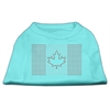 Mirage Pet Products Canadian Flag Rhinestone Shirts Aqua XXL (18)