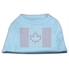 Mirage Pet Products Canadian Flag Rhinestone Shirts Baby Blue XXXL(20)