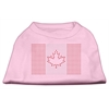 Mirage Pet Products Canadian Flag Rhinestone Shirts Light Pink XXXL(20)