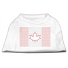 Mirage Pet Products Canadian Flag Rhinestone Shirts White XXXL(20)