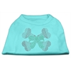 Mirage Pet Products Candy Cane Crossbones Rhinestone Shirt Aqua XXXL(20)