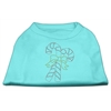 Mirage Pet Products Candy Cane Rhinestone Shirt Aqua XXXL(20)