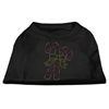 Mirage Pet Products Candy Cane Rhinestone Shirt Black XXXL(20)