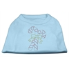 Mirage Pet Products Candy Cane Rhinestone Shirt Baby Blue XXXL(20)