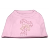 Mirage Pet Products Candy Cane Rhinestone Shirt Light Pink XXXL(20)