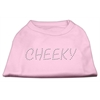 Mirage Pet Products Cheeky Rhinestone Shirt Light Pink XXXL(20)