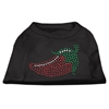 Mirage Pet Products Rhinestone Chili Pepper Shirts Black XS (8)