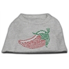 Mirage Pet Products Rhinestone Chili Pepper Shirts Grey XXXL(20)