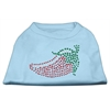 Mirage Pet Products Rhinestone Chili Pepper Shirts Baby Blue XXXL(20)