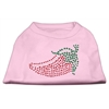 Mirage Pet Products Rhinestone Chili Pepper Shirts Light Pink XXXL(20)