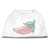 Mirage Pet Products Rhinestone Chili Pepper Shirts White XL (16)