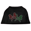 Mirage Pet Products Christmas Bows Rhinestone Shirt Black XXXL(20)
