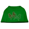 Mirage Pet Products Christmas Bows Rhinestone Shirt Emerald Green Sm (10)