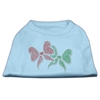 Mirage Pet Products Christmas Bows Rhinestone Shirt Baby Blue XXXL(20)
