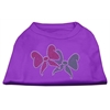 Mirage Pet Products Christmas Bows Rhinestone Shirt Purple XXXL(20)