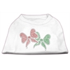 Mirage Pet Products Christmas Bows Rhinestone Shirt White XXXL(20)