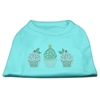 Mirage Pet Products Christmas Cupcakes Rhinestone Shirt Aqua XXXL(20)