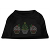 Mirage Pet Products Christmas Cupcakes Rhinestone Shirt Black XXL (18)