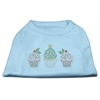 Mirage Pet Products Christmas Cupcakes Rhinestone Shirt Baby Blue XXXL(20)