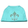 Mirage Pet Products Holiday Fleur de lis Rhinestone Shirts Aqua L (14)