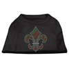 Mirage Pet Products Holiday Fleur de lis Rhinestone Shirts Black XXXL(20)