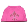 Mirage Pet Products Holiday Fleur de lis Rhinestone Shirts Bright Pink XXXL(20)