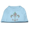 Mirage Pet Products Holiday Fleur de lis Rhinestone Shirts Baby Blue XS (8)