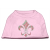 Mirage Pet Products Holiday Fleur de lis Rhinestone Shirts Light Pink XXL (18)