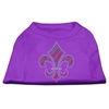 Mirage Pet Products Holiday Fleur de lis Rhinestone Shirts Purple XXXL(20)