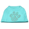 Mirage Pet Products Holiday Paw Rhinestone Shirts Baby Blue XXXL(20)