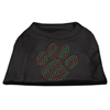 Mirage Pet Products Holiday Paw Rhinestone Shirts Black XXXL(20)