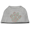 Mirage Pet Products Holiday Paw Rhinestone Shirts Grey L (14)