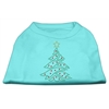 Mirage Pet Products Christmas Tree Rhinestone Shirt Aqua XXXL(20)