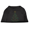 Mirage Pet Products Christmas Tree Rhinestone Shirt Black XXXL(20)