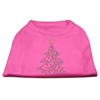 Mirage Pet Products Christmas Tree Rhinestone Shirt Bright Pink XXXL(20)